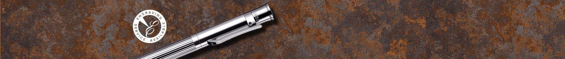 Otto Hut lined sterling silver design 04 ballpoint pen